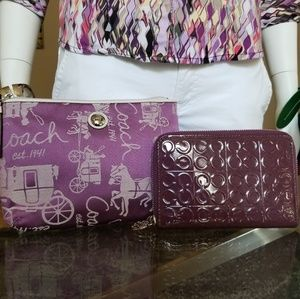 Beautiful COACH Wallet and Cosmetic Bag